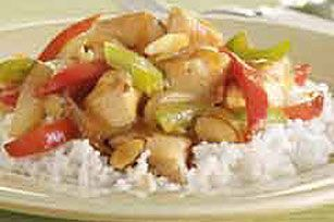 Stir-Fried Chicken and Almonds Recipe - Kraft Recipes  I make substitutions to make this paleo.