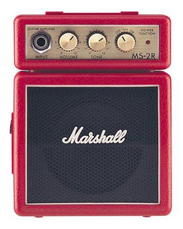 Marshall Amp MS2 Mini Amp: Red: Amazon.co.uk: Musical Instruments