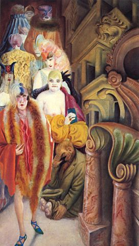 Otto Dix Grossstadt (detail) 1927-28 Kunstmuseum Stuttgart