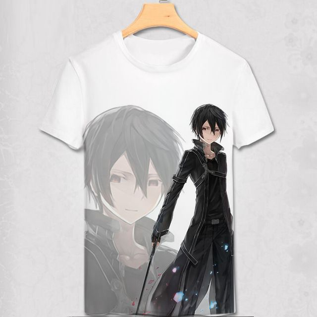Buy now Sword Art Online T-shirt Asuna Kirito Kirigaya Kazuto SAO Cosplay Costume Anime Fashion Men Women T Shirt Tees New Cool Design just only $10.01 with free shipping worldwide  #tshirtsformen Plese click on picture to see our special price for you