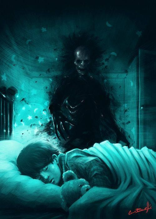 boogeyman, dark art, illustration