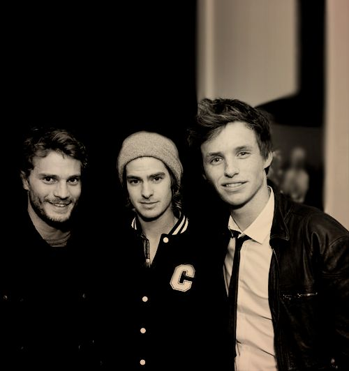 Jamie Dornan, Andrew Garfield, and Eddie Redmayne. All in one picture. This is too much.