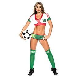 2014 fifa world cup mexico football baby green red sexy uniform cheerleader halloween costumefootball babyworld - Halloween Costume Football