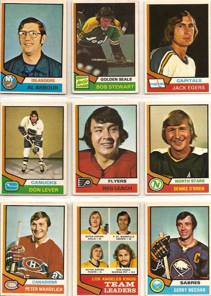 91-99 Al Arbour, Bob Stewart, Jack Egers, Don Lever, Reg Leach, Dennis O'Brien, Peter Mahovlich, Kings Leaders, Gerry Meehan