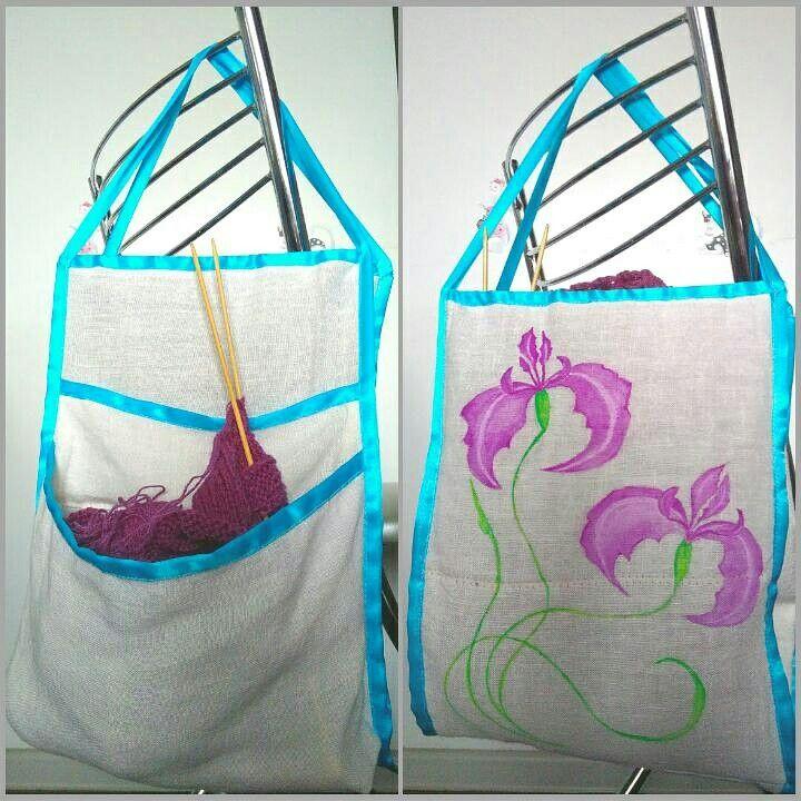 Сумочка для хендмейда. Очень удобно хранить все необходимое для проекта в одном месте.  Bag for handmade. It's convenient to have all what you need for project  at one place.  #handmade #handmadebag #bagforhandmade