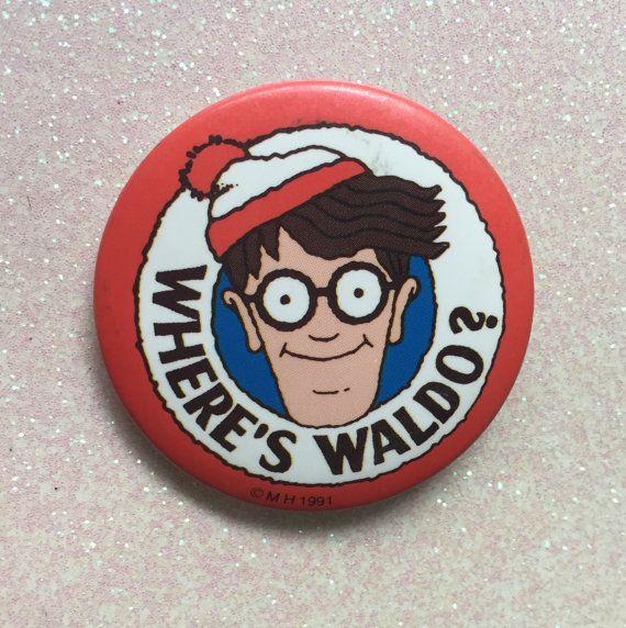 Where's Waldo Button 1991 by AlexStrangler on Etsy