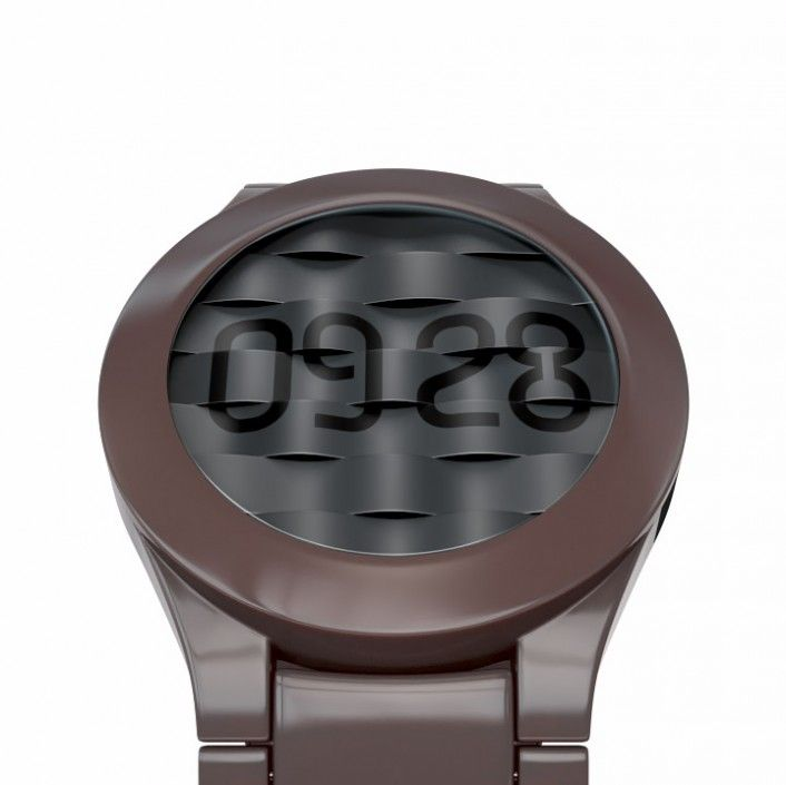 'Ripple' e-paper watch adds texture to display time