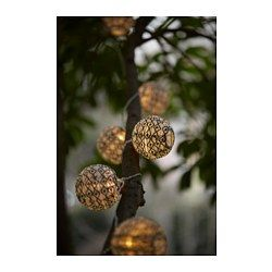 "SOLVINDEN decoration for light chain, globe black/white Diameter: 3 "" Package quantity: 12 pack Diameter: 8 cm Package quantity: 12 pack"