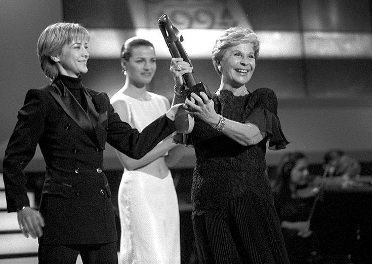Premio TP mejor actriz 1994 con Amparo Larrañaga