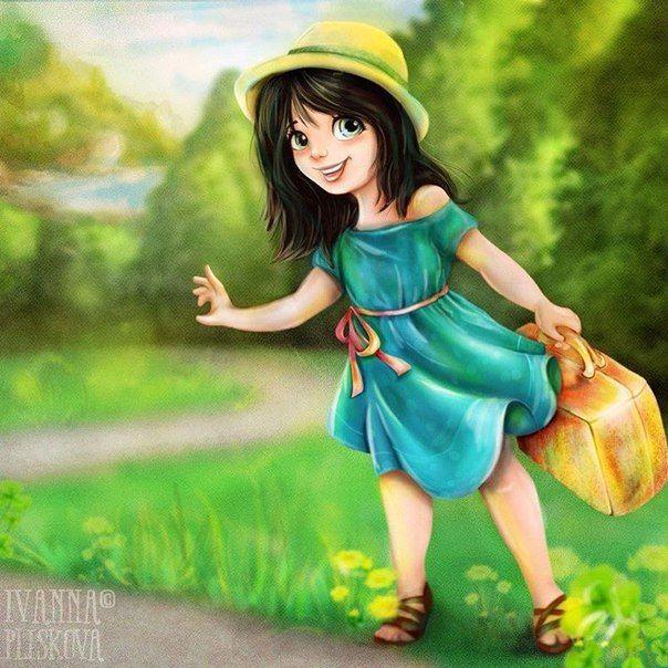 """Let's go to the ocean ?""...   #Ivashka_ #Ивашка_ #иллюстрация #illustration #character #emotion"