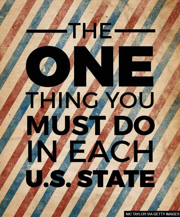 The one thing you HAVE to do in each U.S. state
