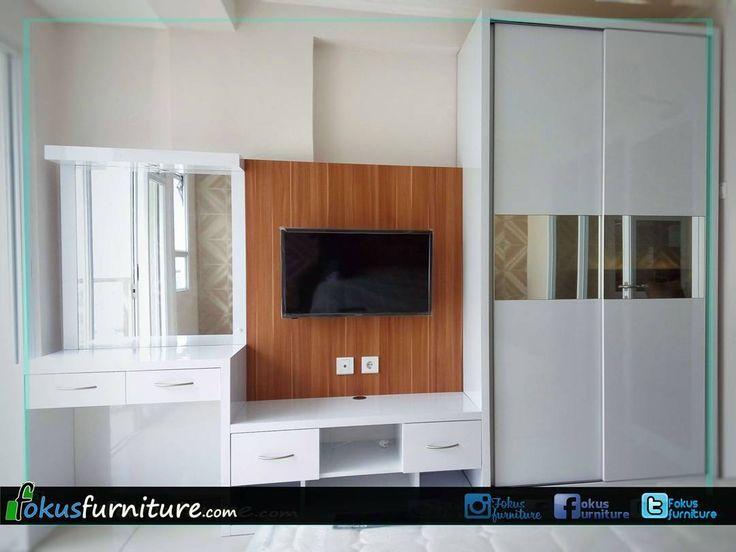 """73 Suka, 1 Komentar - Furniture custom minimalis (@fokusfurniture) di Instagram: """"Kamar set di Apartemen gateway pasteur, Bandung  #Lemari #lemariminimalis #lemarihpl #lemaricustom…"""""""
