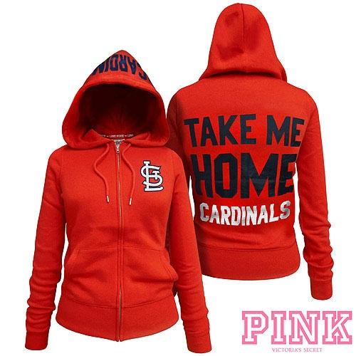 St. Louis Cardinals Victoria's Secret PINK® Full Zipper Hoodie