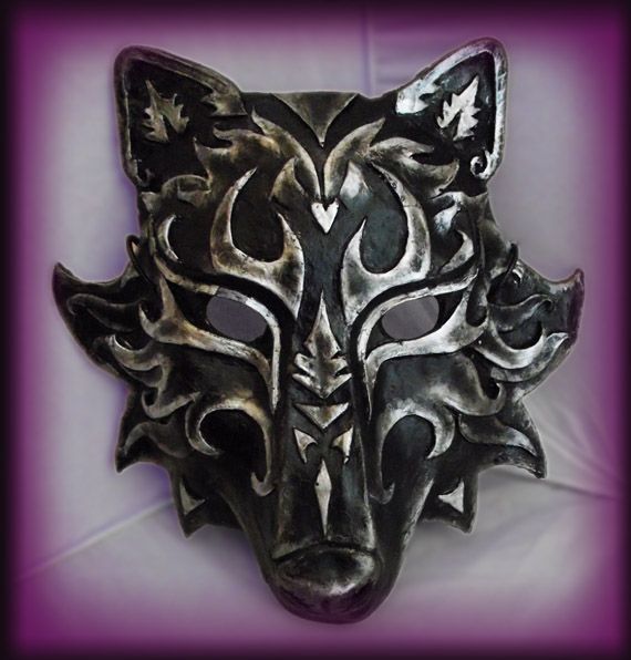 Wolf Mask- Black Version by Namingway.deviantart.com on @deviantART