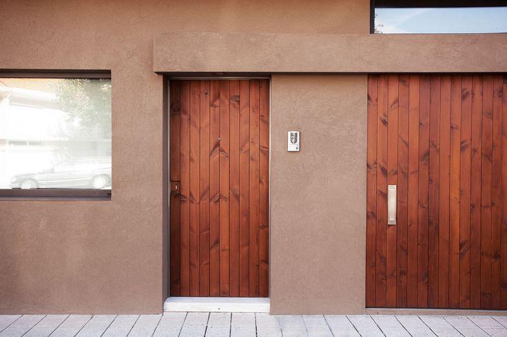 wood door, wood garage door by Atelier405