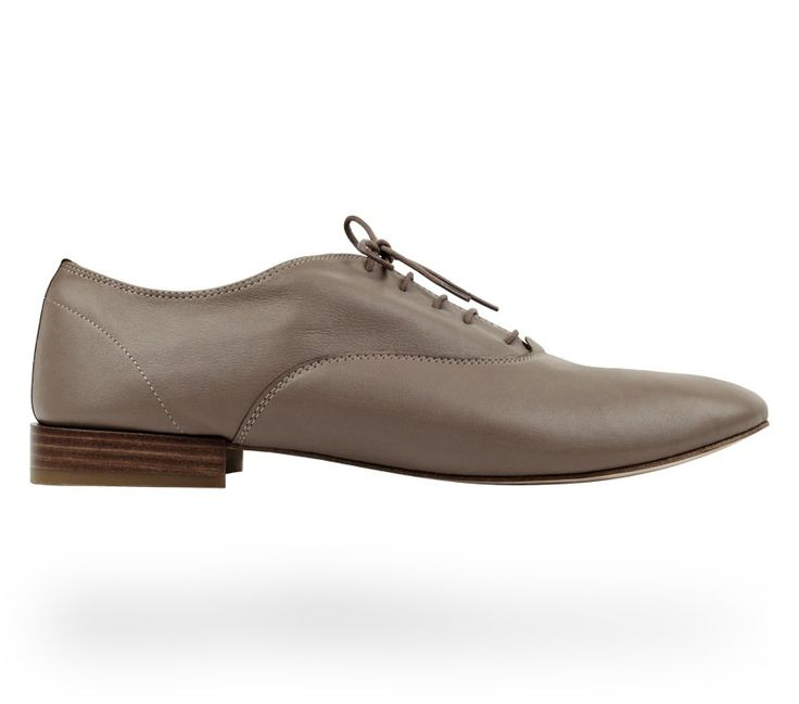 Oxford Shoe Zizi Hermine Taupe Nappa Calfskin for Men by Repetto  #RepettoShoes #MenShoes #