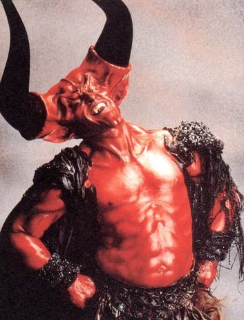 so hard to believe that's tim curry!  best devil ever-in Legend.