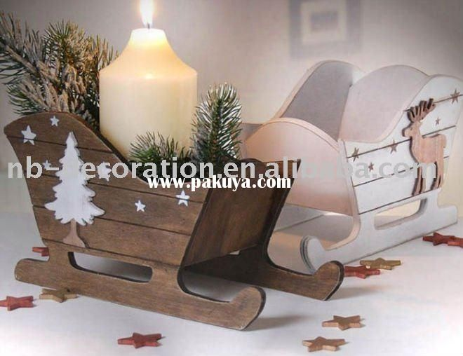 Image detail for -2011 christmas candle holder,wood craft,wooden christmas decorations