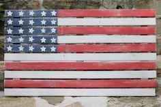 Oh say can you see: DIY American flag art