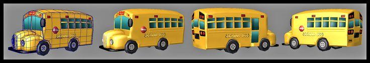 Cartoon Bus X - 3D Model