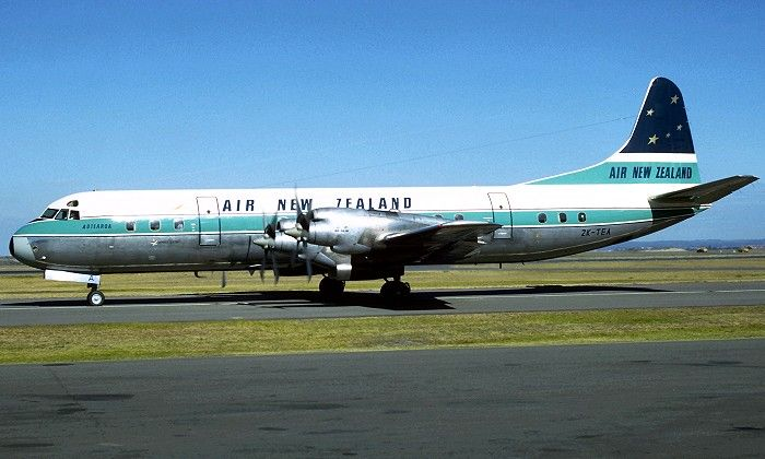 ZK-TEA. Air New Zealand - in the revised livery at Sydney Airport, July 1968.TASMAN EMPIRE AIRWAYS LTD--- became Air New Zealand.