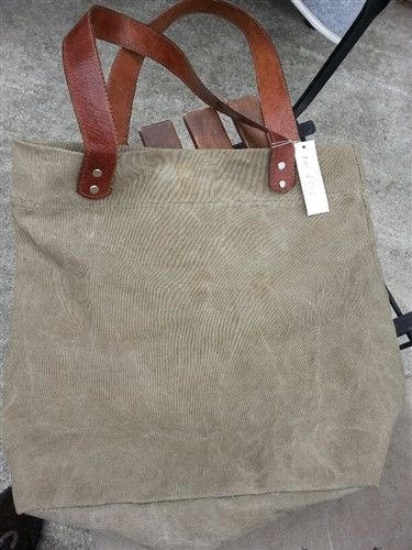 Organic Washed Cotton - Large Plain Tote Bag