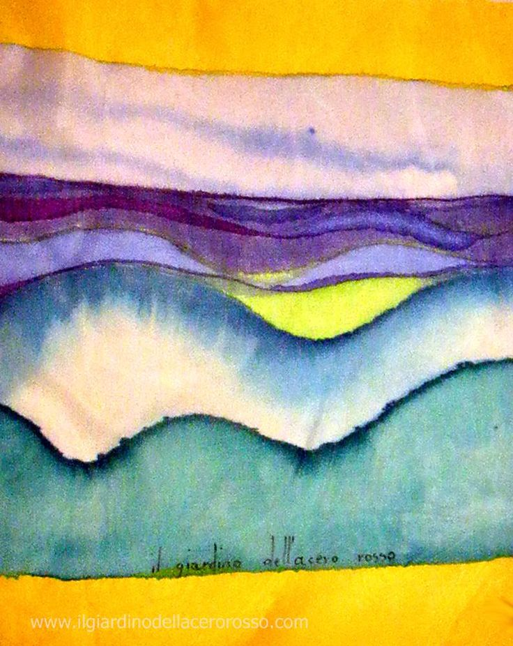 """Sea"" handpainted scarf - www.ilgiardinodellacerorosso.com"