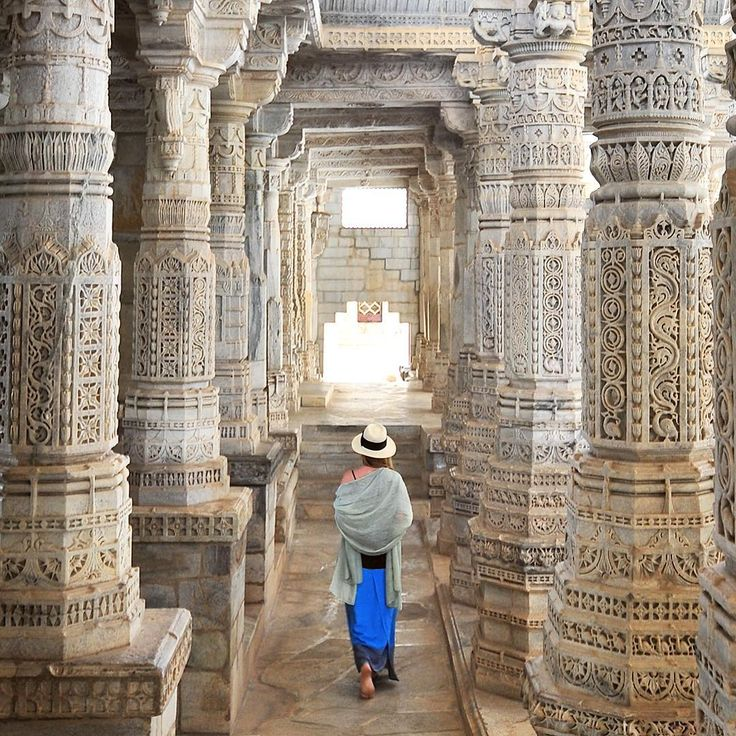 Luiza Zadros -my daughter.....From our trip to India: Visiting the Ranakpur temple in Rajasthan. • Photo © TravelPlusStyle.com