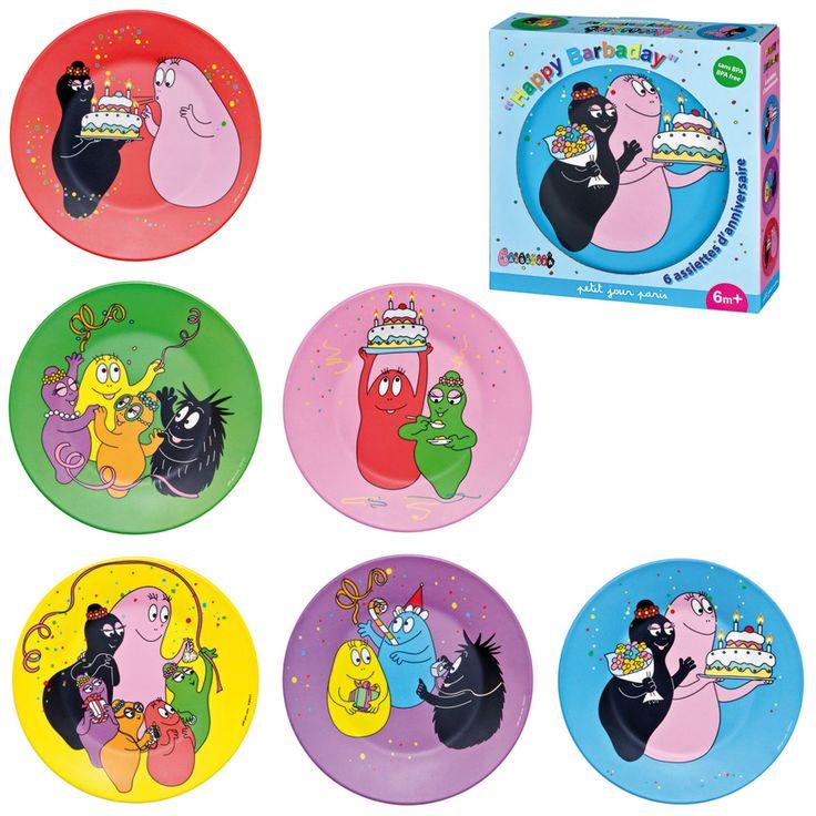 Coffret d'anniversaire Barbapapa (BA965F) : achat / vente Vaisselle & Couvert sur maginea.com