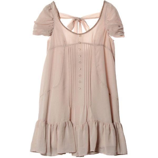 【ELLE SHOP】ジル スチュアート|エスニックシフォンワンピース|ファッション通販 エル・ショップ ($270) ❤ liked on Polyvore