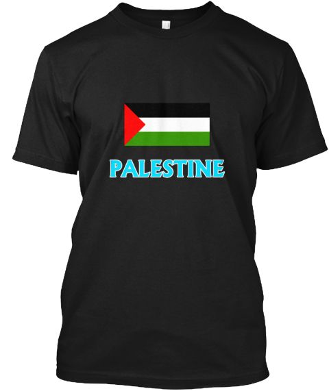 Palestine Flag Classic Blue Design Black T-Shirt Front - This is the perfect gift for someone who loves Palestinian. Thank you for visiting my page (Related terms: I Heart Palestine,Palestine,Palestinian,Palestine Travel,I Love My Country,Palestine Flag, Palestine #Palestinian, #Palestinianshirts...)
