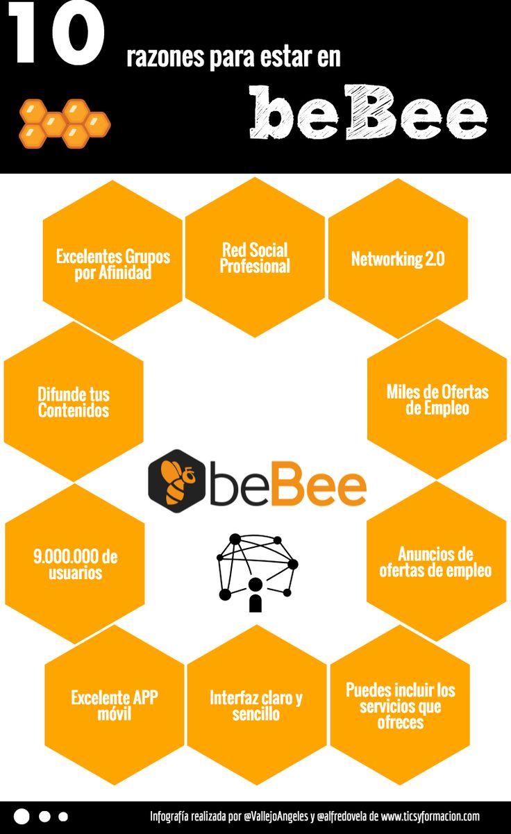 10 razones para estar en beBee #infografia