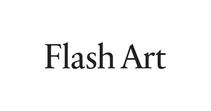 Flash Art is an international bimonthly magazine and publishing platform dedicated to thinking about contemporary art, exploring the evolving cultural landscape through the work of leading artists, writers, curators and others.