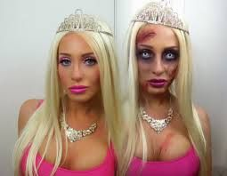 Zombie barbie makeup and costume