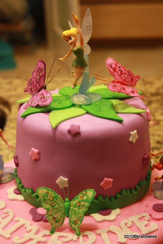 Tinkerbell Cake--Purple instead of pink