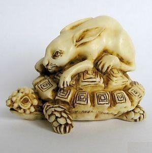Netsuke - Tortoise and Hare