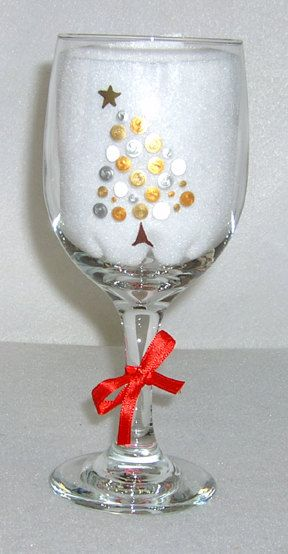 402 best one stroke glass painting images on pinterest for Holiday wine glass crafts