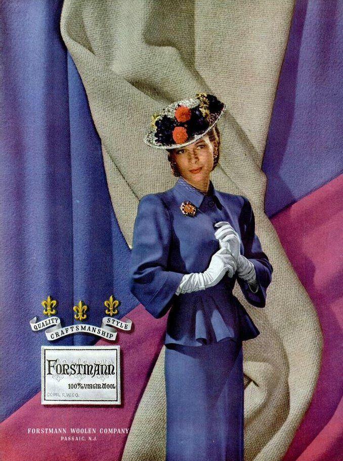 Forstmann ad, 1945 | Sophia | Flickr