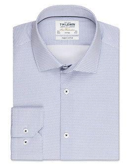 f0aa581f Fitted Blue Circle Print Shirt – Button Cuff, , original | MINE ...