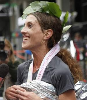 Amy McDonaugh is legally blind, yet she went on to win the Flying Pig Marathon in Cincinnati last week! WOW. What an amazing gal! (Plus she had surgery the month prior!)