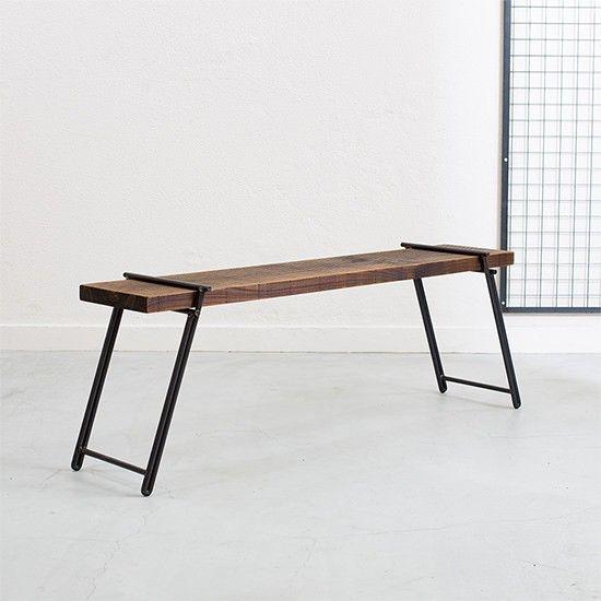 【 工具不要 】 足場板アイアンベンチ|テーブル・机|Dichotomic|ハンドメイド通販・販売のCreema