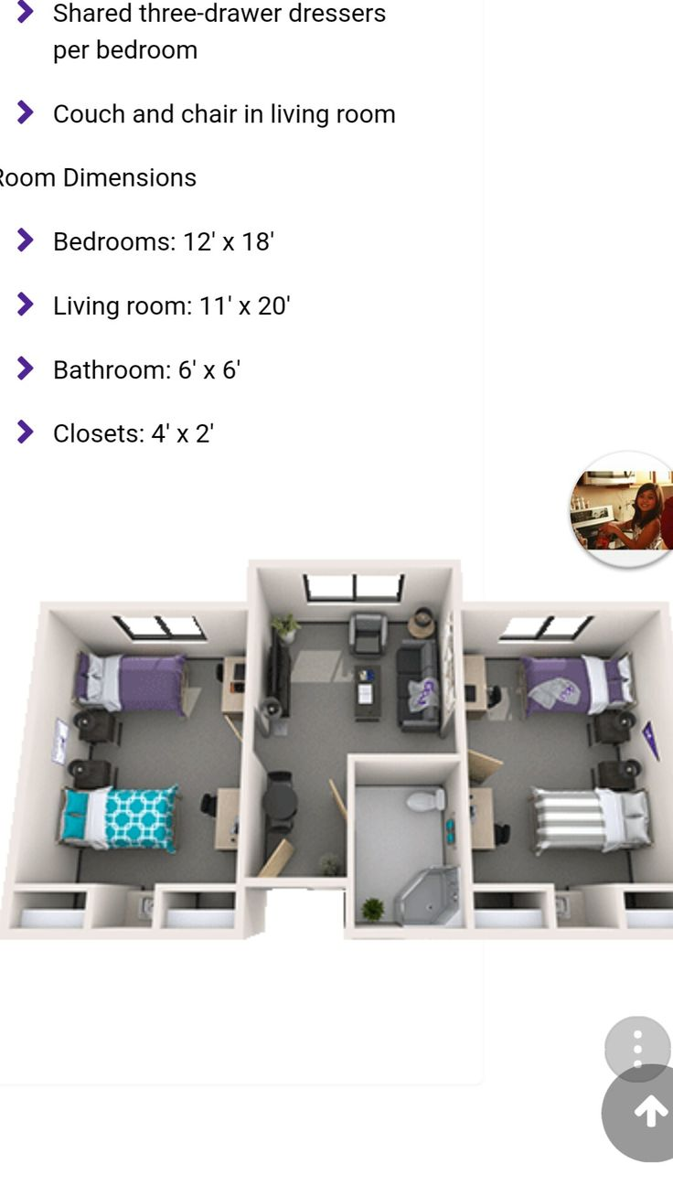 Dorm Room Layouts: Grand Canyon University Cypress Dorm GCU In 2019