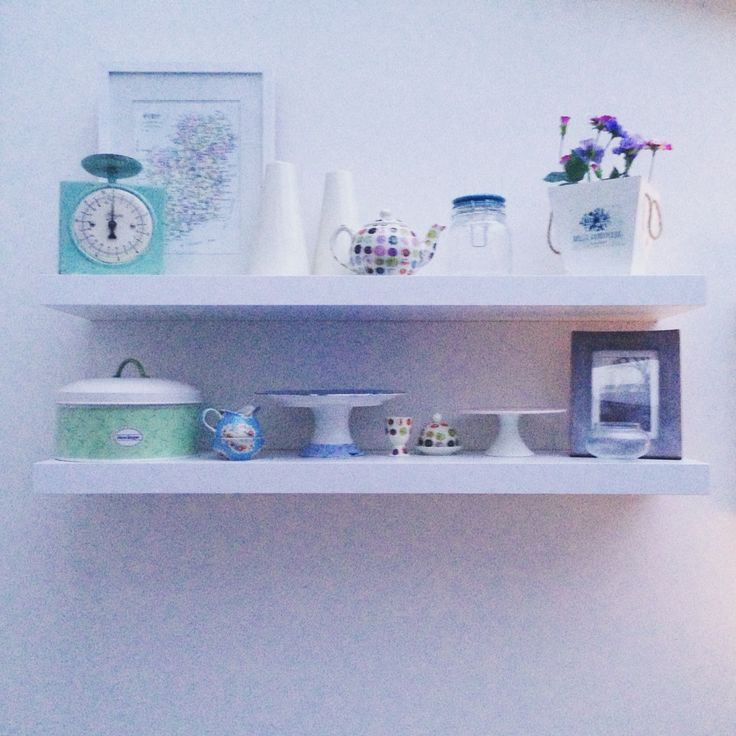 Ikea floating shelves with some of my favourite bitty bits