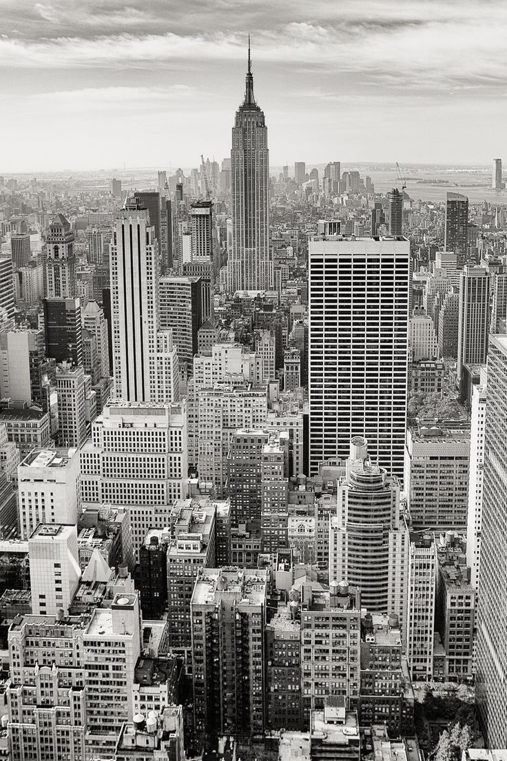 Free stock photo of black-and-white, city, skyline, buildings