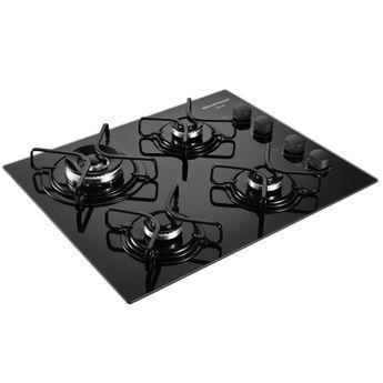 Cooktop a Gás Brastemp Ative! 4 Bocas em Vidro - BDD61AE | Especificações técnicas LARG. 56.5cm ALT. 8.6cm PROF. 46cm