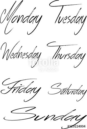 Vettoriale: days of the week Collage