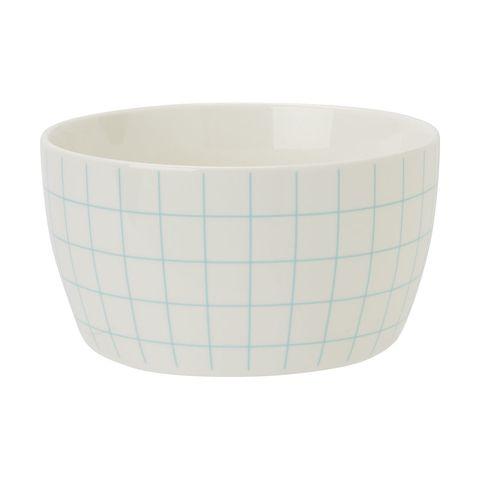 Cereal Bowl - Mint Grid