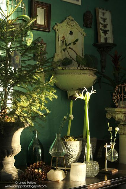 Botanical and Green Christmas Decor Romppala - Lindan pihalla