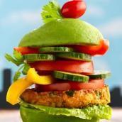 Monster Veggie Burger - Healthy Recipes: 10 Green Foods for St. Patrick's Day - Shape Magazine