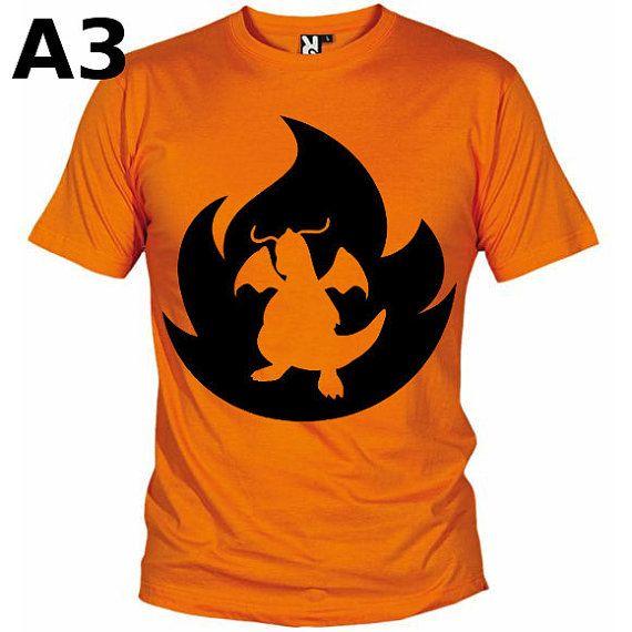 """T-shirt Orange pour Homme (différentes tailles disponibles), logo """"Dracolosse"""" - Format d'impression au choix: A3 ou A4"""